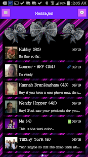GO SMS - Sweet Bows 2 - screenshot
