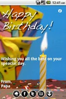 Screenshot of Mobile Birthday Cards