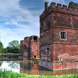Kirby Muxloe Castle by Mick Tate - Buildings & Architecture Public & Historical ( kirby, tower, moat, castle, muxloe )