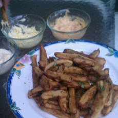 Duck Fat French Fries with a Trio of Aiolis