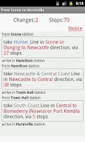 Screenshot of Sydney CityRail