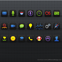 My Home theme - Black neon icon