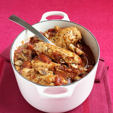 Chicken with Tomatoes and Mushrooms
