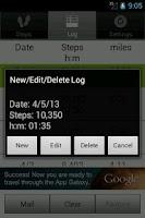 Screenshot of Walkroid - simple pedometer