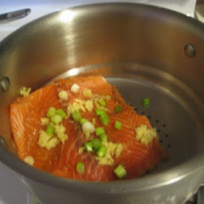 Steamed Salmon With Soy Glaze