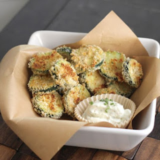 Baked Zucchini with Buttermilk Ranch Dip