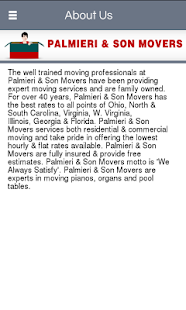 Palmieri & Son Movers - screenshot