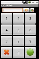 Screenshot of BIG Phone Pad