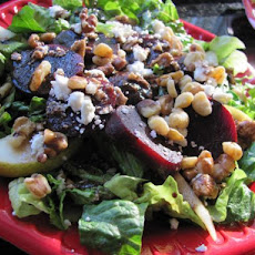 Roasted Beet, Pear and Feta Salad