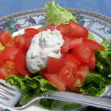 Tomato Salad With Mustard-Basil Dressing
