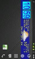 Screenshot of Live Wallpaper Flip Clock Tria