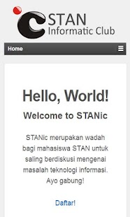 STAN informatic club - screenshot