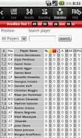 Screenshot of Fantasy Euro 2012