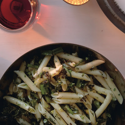 Penne with Hazelnut Gremolata and Roasted Broccolini