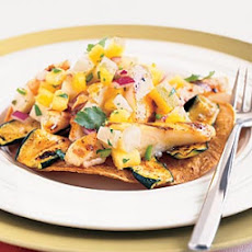 Grilled Fish Tostadas with Pineapple-Jícama Salsa