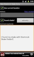 Screenshot of Shamrock Shake Finder