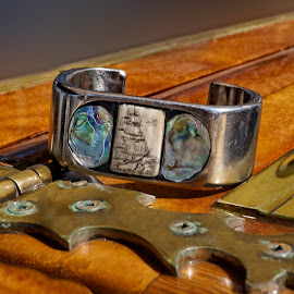 Sea to Sky by Brenda Bryson - Artistic Objects Jewelry ( bracelet, jewelry, teak, wooden boat, object, artistic )