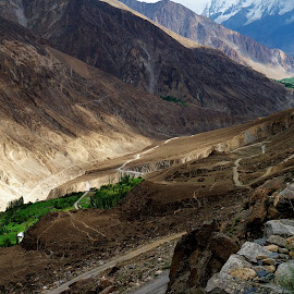 Karakorams by Javeed Iqbal - Nature Up Close Rock & Stone ( nature, path, lumix g3 14-42mm paths, valley, landscape )