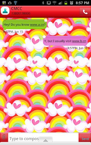 GO SMS - Rainbow Starburst