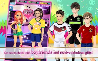 Screenshot of Runway Girl: World Football