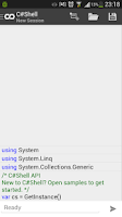 Screenshot of C# Shell (Compiler REPL) Free