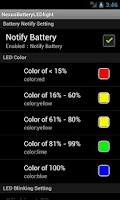 Screenshot of Nexus Battery LED light