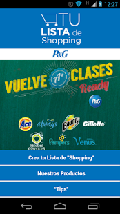 Tu Lista de Shopping - P&G - screenshot