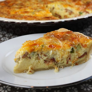 Swiss and Cheddar Quiche with Bacon