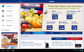 Screenshot of ALDI Nord