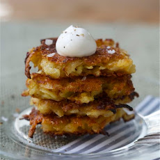 Apple Cheddar Latkes