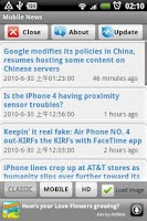 Screenshot of Mobile News