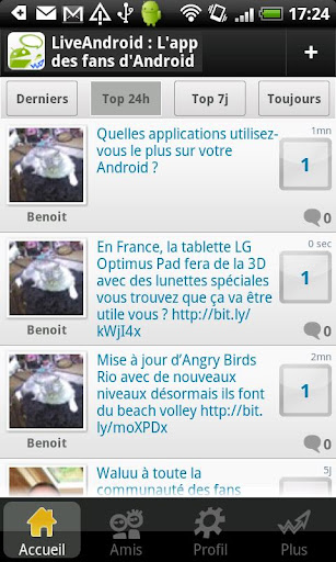 Live Android: Tchat Forum FR
