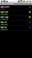 Screenshot of DomainDroid