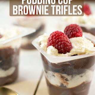 Pudding Cup Brownie Trifles