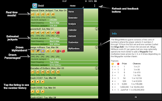 Screenshot of GA Lottery Droid Lite