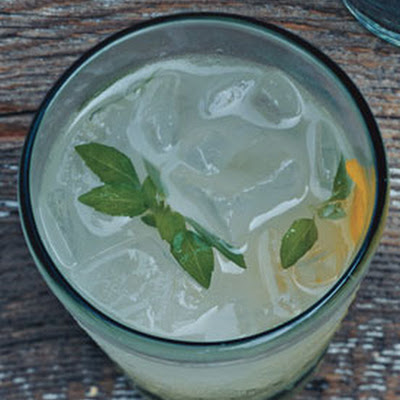 Basil Vodka Gimlets