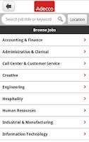 Screenshot of Adecco Jobs