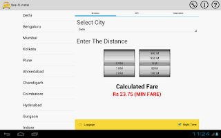 Screenshot of fare-O-meter