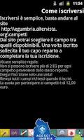 Screenshot of Campi Specialità Umbria 2012