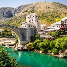 Mostar by Wim Moons - City,  Street & Park  Historic Districts ( bosnië en herzegovina, mostar, bih, bjelušine, federation of bosnia and herzegovina )