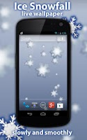 Screenshot of Ice Snowfall Free LWP