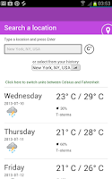 Screenshot of World Weather