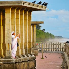 Nostalgia by Madhu Payyan Vellatinkara - People Street & Candids ( nun, candid, beach, nostalgic, people )