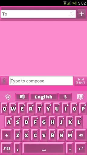 GO Keyboard Hot Pink Pearl