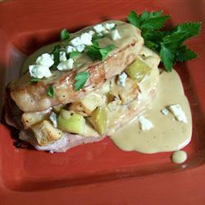 Stuffed Pork Chops with Creamy Gorgonzola Sauce