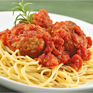 Spaghetti with Rosemary-Parmesan Turkey Meatballs