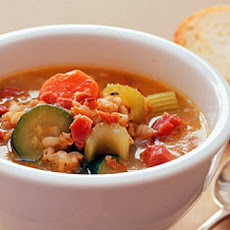 Smoked Ham, Barley, and Vegetable Soup