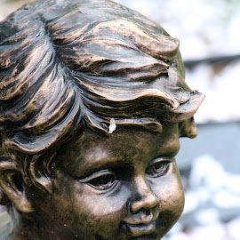 The Bronze Little Boy by Rhonda Mullen - Buildings & Architecture Statues & Monuments