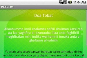Screenshot of Doa Islam