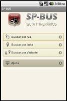 Screenshot of SP-BUS  Linhas de ônibus